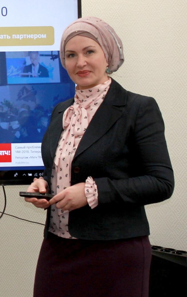 Фаткуллина Диляра Фаридовна - руководитель Департамента – предпринимателей женщин и Центра поддержки начинающего предпринимателя АПМ РФ